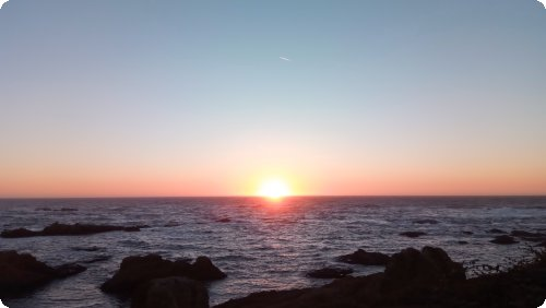 Fort Bragg: Glass Beach Sonnenuntergang..