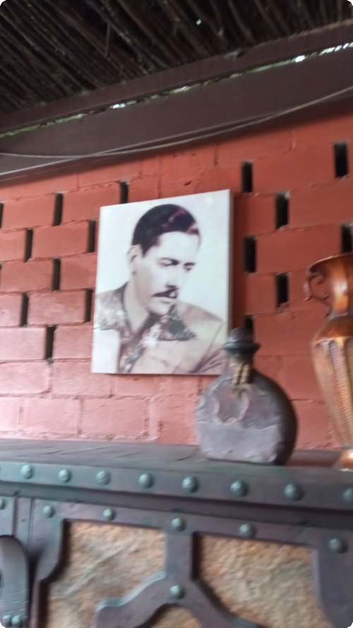 Ancestor: Don Juan watches over our breakfast